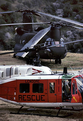Usa, California, Search And Rescue Print by Gerry Reynolds