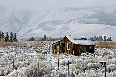 Usa, California, Snowy Sierra Nevada Print by Bernard Friel