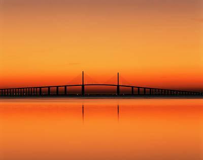 Sunshine Skyway Bridge Photograph - Usa, Florida, Sunshine Skyway Bridge by Adam Jones