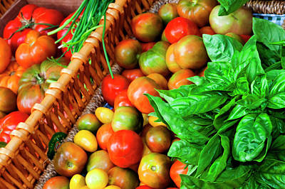 Property Released Photograph - Usa, Georgia, Savannah, Tomatoes by Joanne Wells