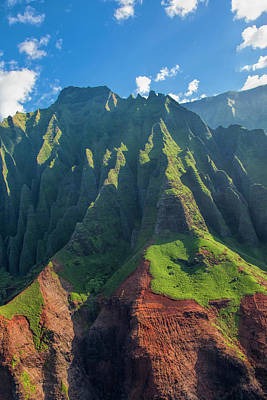 Usa, Hawaii, Kauai, Aerial Print by Terry Eggers