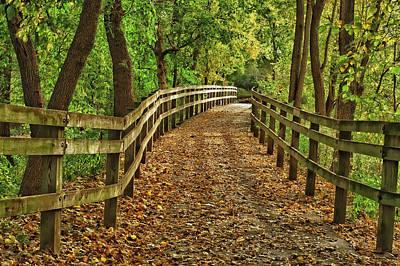 Usa, Indiana City Hiking Trail Print by Rona Schwarz