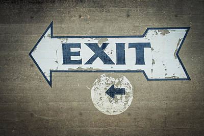 Usa, Mississippi, Exit Sign In Great Print by Dosfotos