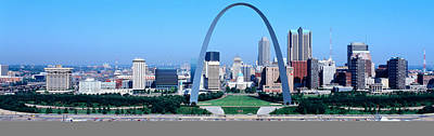 Stainless Steel Photograph - Usa, Missouri, St. Louis, Gateway Arch by Panoramic Images