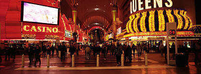 Usa, Nevada, Las Vegas, The Fremont Print by Panoramic Images
