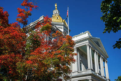 Concord Photograph - Usa, New Hampshire, Concord, New by Walter Bibikow