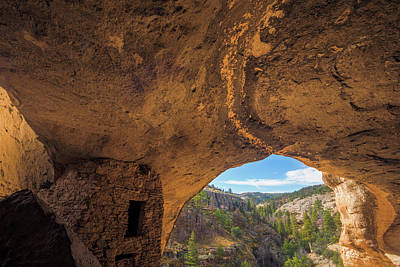 Usa, New Mexico, Gila Cliff Dwellings Print by Jaynes Gallery