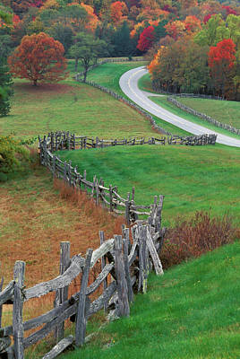 Old Country Roads Photograph - Usa, North Carolina, Blue Ridge by Jaynes Gallery