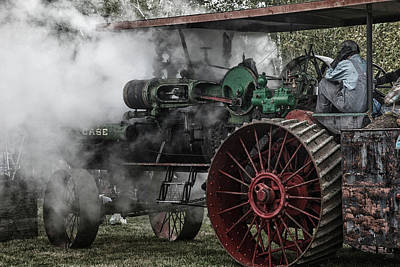 Steam Tractor Photograph - Usa, Oregon, Brooks, Antique Powerland by Rick A Brown