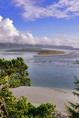 Usa, Oregon Netarts Bay In Cape Lookout Print by Jaynes Gallery