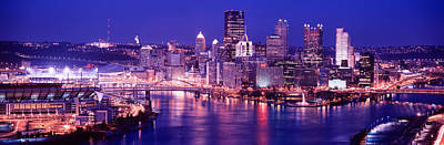 Usa, Pennsylvania, Pittsburgh At Dusk Print by Panoramic Images