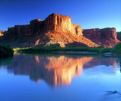Ies Photograph - Usa, Utah, A Mesa Reflecting by Jaynes Gallery