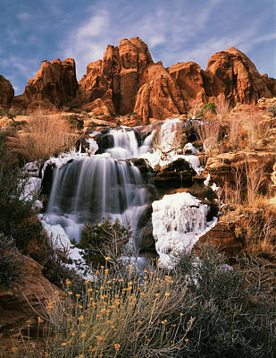 Ice-t Photograph - Usa, Utah, Spanish Valley, View by Scott T. Smith