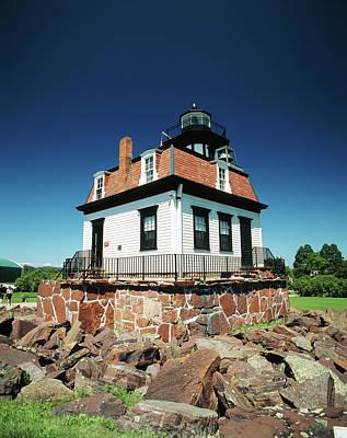 Usa, Vermont, Shelburne, Lighthouse Print by Walter Bibikow