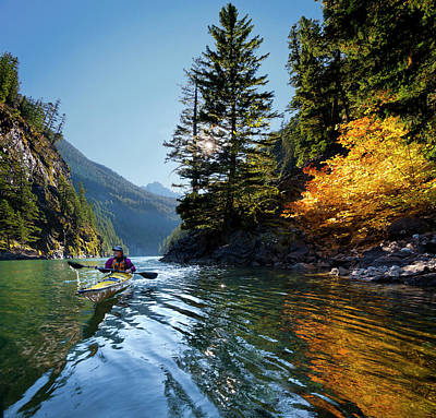 Usa, Washington State, North Cascades Print by Gary Luhm