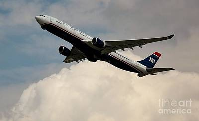 Rene Triay Photograph - Usair Airbus by Rene Triay Photography