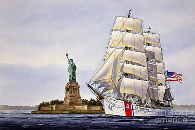 United States Coast Guard Painting - Uscg Eagle by James Williamson