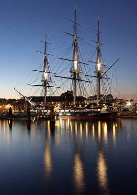 Uss Constitution Print by Juergen Roth