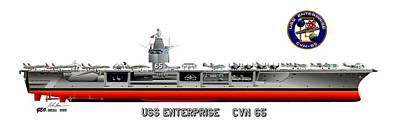 Uss Enterprise Cvn 65 1975- 1981 Original by George Bieda