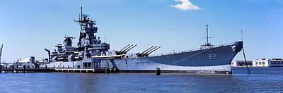 Battleship Photograph - Uss New Jersey Battleship, Camden, New by Panoramic Images