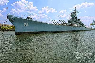 Uss New Jersey Print by Olivier Le Queinec