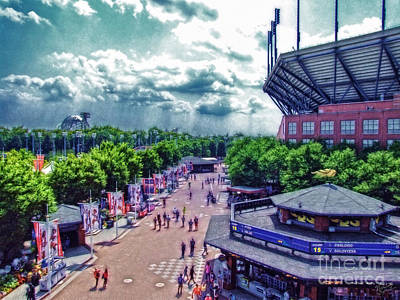 Usta Grounds Flushing Meadows Print by Nishanth Gopinathan