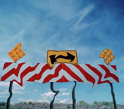Distortion Photograph - Utah, Digital Distortion Road Sign by Jaynes Gallery