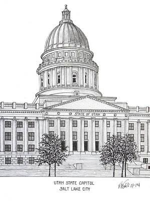 Utah State Capitol Original by Frederic Kohli