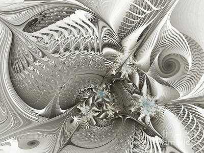 Abstraction Digital Art - Utopia-fractal Art by Karin Kuhlmann