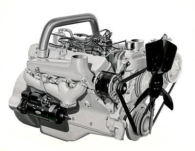 Toro Photograph - V-8 Gmc Diesel Engine by Underwood Archives
