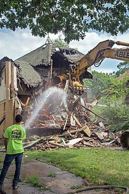 Vacant Home Demolition Print by Jim West