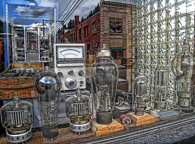 Vacuum Tubes And Diodes - Wallace Idaho Print by Daniel Hagerman