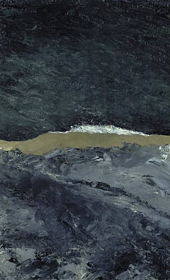 Abstract Beach Painting - Vague Vii by August Johan Strindberg