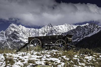Still Life Photograph - Vail Colorado Wagon by Michael J Bauer
