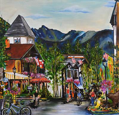 Vail Village Print by Nancy Hilliard Joyce