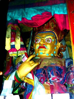 Tibetan Buddhism Painting - Vaishravana 1 by Lanjee Chee