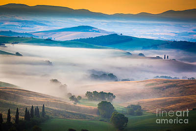 Val D'orcia Enchantment Print by Inge Johnsson