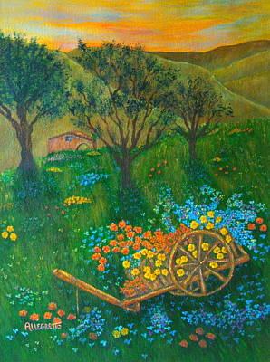 Autumn Landscape Painting - Val D'orcia by Pamela Allegretto