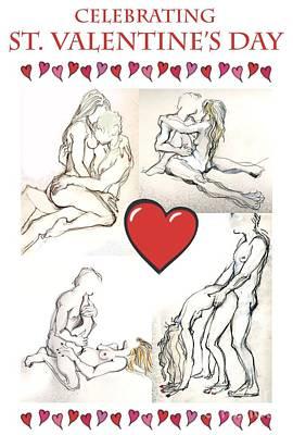 Valentine - Valentine's Day Cards Print by Carolyn Weltman
