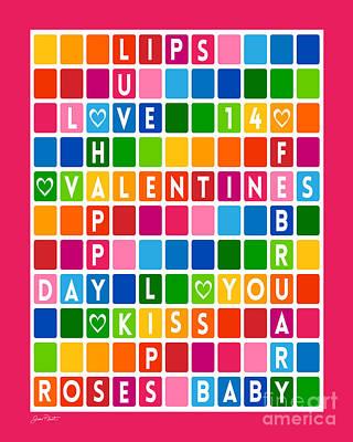 Valentines Crossword Puzzle-jp2456 Original by Jean Plout