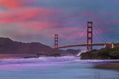 Golden Gate Photograph - Valentine's Day Sunset by Jeremy Jensen