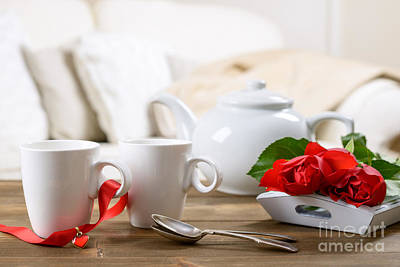 Valentines Day Tea Print by Amanda And Christopher Elwell
