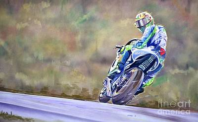 Champion Mixed Media - Valentino Rossi Ciao Ciao Everyone by Marco Ippaso