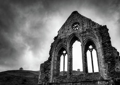 Valle Crucis Abbey Print by Dave Bowman