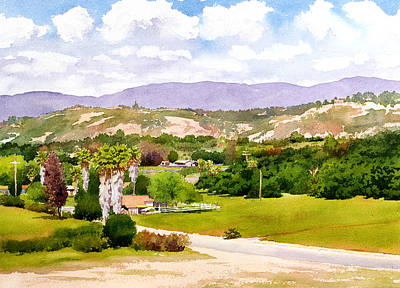 Center Painting - Valley Center California by Mary Helmreich