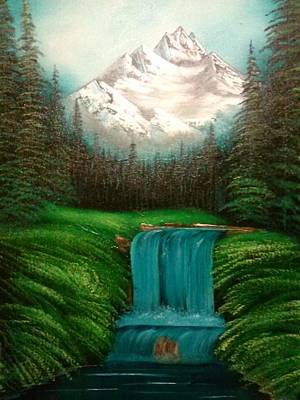 Bob Ross Painting - Valley Falls by Lynn Lawrence