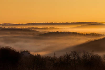 Valley Fog Print by Bill Wakeley