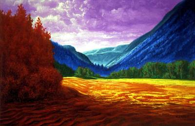 Genio Painting - Valley In Rainbow Colours by Genio GgXpress