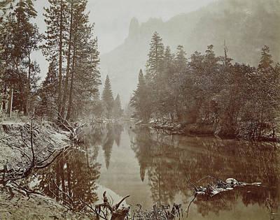 Yosemite National Park Drawing - Valley In Yosemite Mountains by Artokoloro