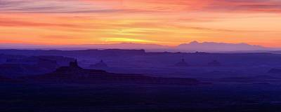 Valley Of The Gods Sunrise Utah Four Corners Monument Valley Print by Silvio Ligutti